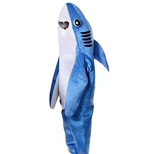 進撃のサメ!サメ 着ぐるみ コスチューム 大人 キッド 動物 コスプレ マスコット衣装 親子ゲーム (大人-L)