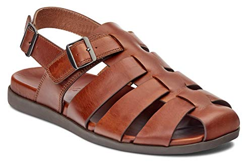Vionic Men's Ludlow Gil Fisherman Sandal - with Concealed Orthotic Arch Support Brown 13 M US -