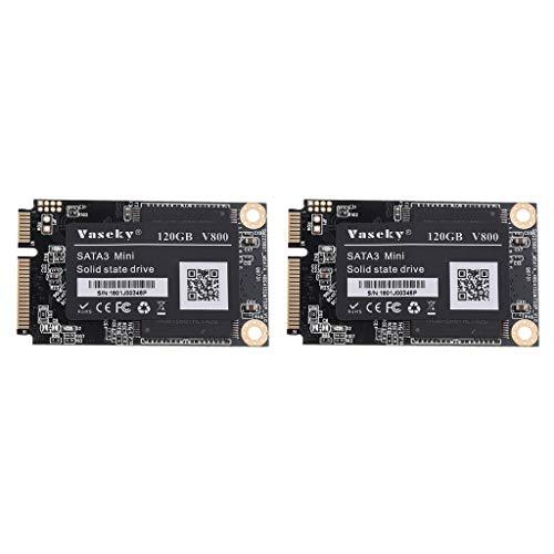 Homyl 2Piece SATA Solid State Drive SSD 1.8'' Laptop Game Mini Hard Drive 120G