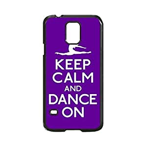 Keep Calm and Dance Purple Ballet Custom Image Case, Diy Durable Hard Case Cover for Samsung Galaxy S5 I9600, High Quality Plastic Case By Argelis-Sky, Black Case New