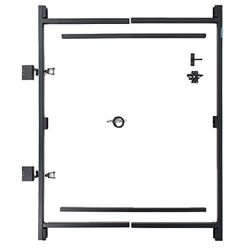 """Fence Walk Through Gate Kit - Adjust-A-Gate Steel Frame No Sag Gate Building Kit - This anti-sag gate kit is perfect for repairing existing sagging gates or building new ones. (36""""-60"""" wide openings up to 7"""