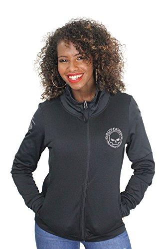 Barnett Harley-Davidson Harley-Davidson Womens Core Biker Willie G Skull Funnel Neck Sweatshirt (Large) (D&g Women Sweaters)