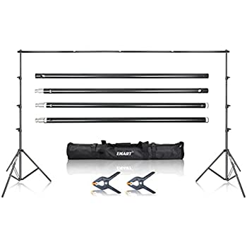 Emart Photo Backdrop Stand, 8.5 x 10Ft Photography Background Stand Support System Kit for Video Studio Photo Booth Props Muslin