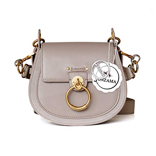 Onzama Women Designer Shoulder Saddle Purses Bracelet Crossbody Bags Cow Leather Ring Satchel