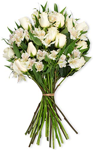 Benchmark Bouquets Elegance Roses and Alstroemeria, No Vase (Fresh Cut Flowers) ()