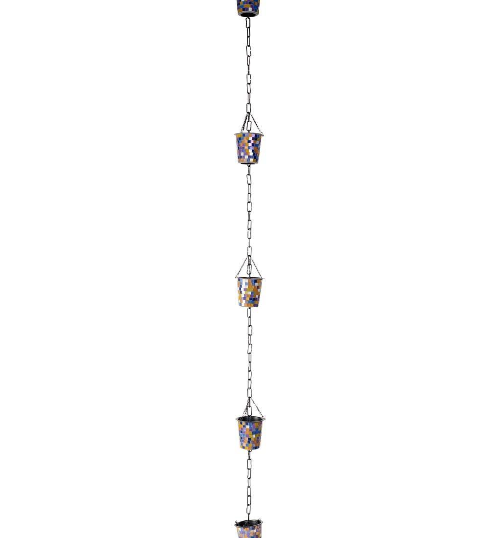 Mosaic Buckets Rain Chain 3.5 dia. x 96 L