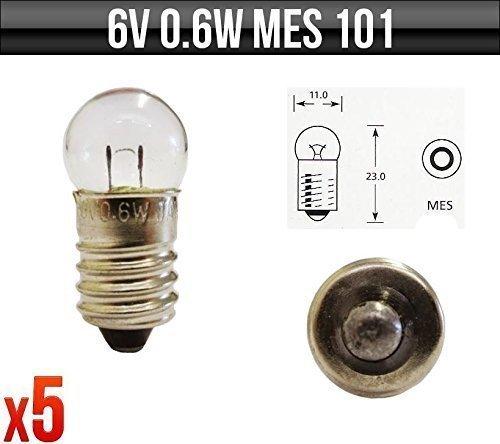 2 x 6 Volt Screw Car Dashboard Instrument Panel Bulb 101 6v 0.6w MES