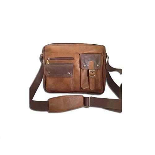 De bolsa Vintage Hombre Cuero Mod bicolor Bag105 Hombro Bolsa Pp15gHnWqP
