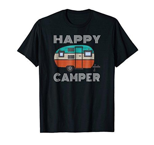 Camping Outdoor Camper Happy Camper Vintage Gift T-Shirt