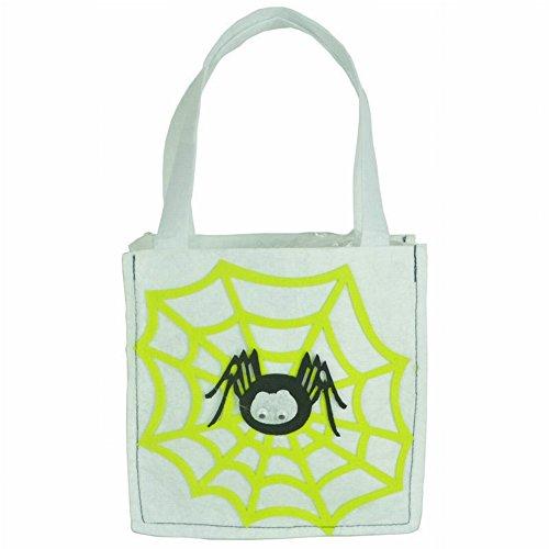 (Taloyer Thin Section of Non-woven Fabrics Handbag Cartoon Animal Candy Bag Gift Bag for Halloween Decoration (White)