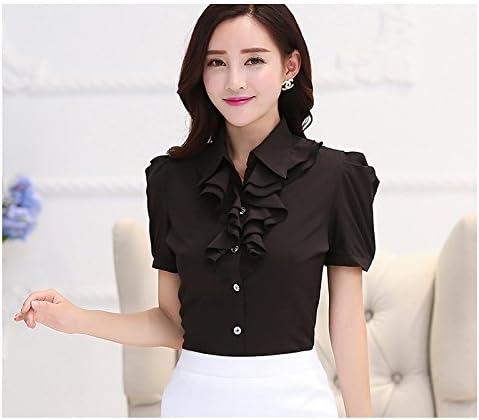 XXIN T-Shirt Short-Sleeved Señoras Blusa Camisa Negra ...