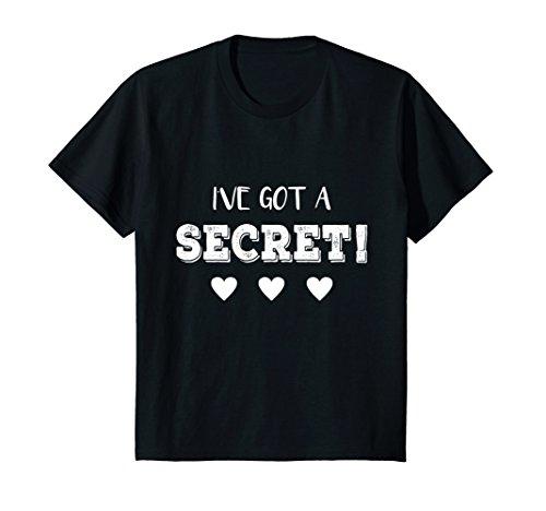 Kids I've Got a Secret I'm Going to be a Big Cousin Funny T shirt 6 Black