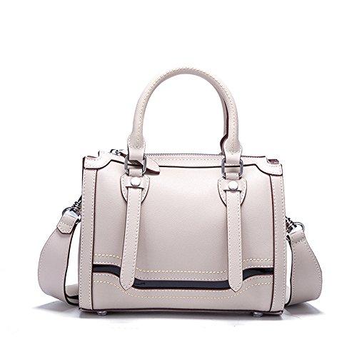 GWQGZ Bolso De Cuero De Alta Calidad Nuevo Bolso De Hombro Bolso Simple Satchel Bag. Rosa Light Grey