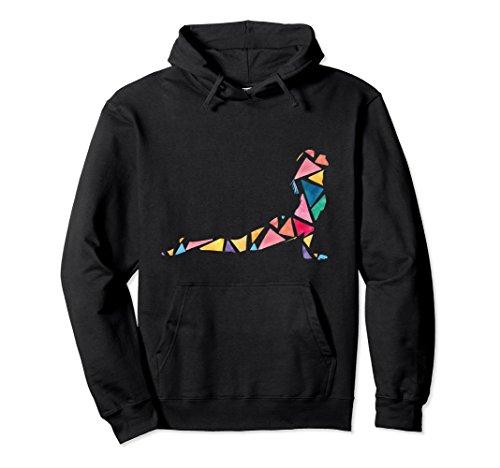 Unisex yoga hoodie for women cobra asana silhouette Medium Black
