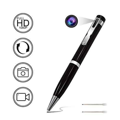 HD 1080P Hidden Spy Pen Camera, Security Pen Camera, Video Recording, Support Loop Recording, Security for Home and Office