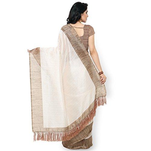 Rajnandini-Womens-Tussar-Silk-Plain-SareeJOPLNB3002Off-WhiteFree-Size
