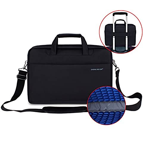 14 Inch Laptop Sleeve, Shockproof Laptop Shoulder Bag with Shoulder Strap and Handle for 13.3