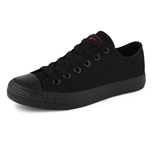 Best-botas para mujer zapatilla zapatillas zapatos de cordones estilo deportivo negro - allblack