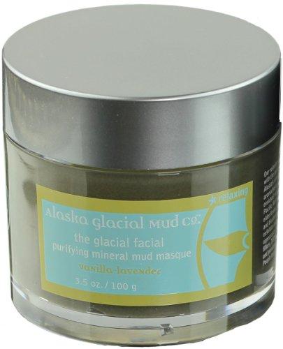 (Alaska Glacial Mud, Glacial Facial Purifying Mineral Mud Masque, Vanilla & Lavender, 3.5)