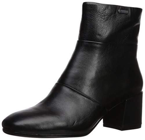 Kenneth Cole New York Women's Eryc Goretex Square Toe Ankle Bootie Boot, Black Leather, 9.5 M US