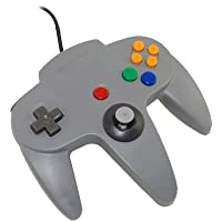 Retro-Bit N64 Style Wired USB Controller for PC & Mac, grey - Standard Edition