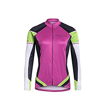 Cycling Skin Suit New Summer Pink Long-sleeved Jersey Purple Riding Single Moisture Wicking Sportswear (Color : Purple, Size : S)