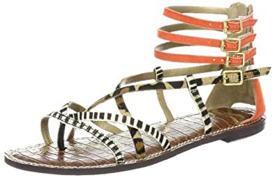 Sam Edelman Women's Gable Gladiator Sandal,Orange/Nude/Black,8 M US