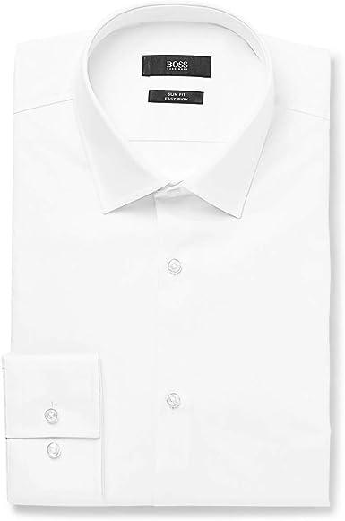 BOSS Hugo Boss Slim Fit camisa de Jenno Blanco: Amazon.es: Ropa y accesorios