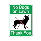 No Dogs On Lawn Thank You Pet Animal Sign Aluminum Metal Sign