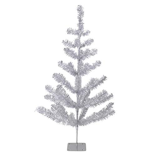 Aluminum Christmas Tree - Northlight 3' Silver Tinsel Pine Artificial Christmas Twig Tree - Unlit