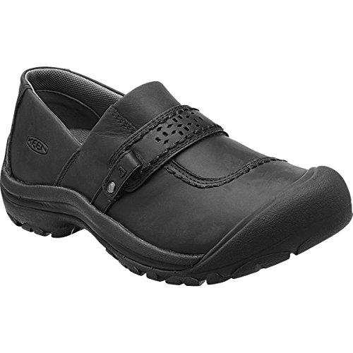 KEEN Women's Kaci Full-Grain Slip-on Hiking Shoe, Black, 12 M US by KEEN