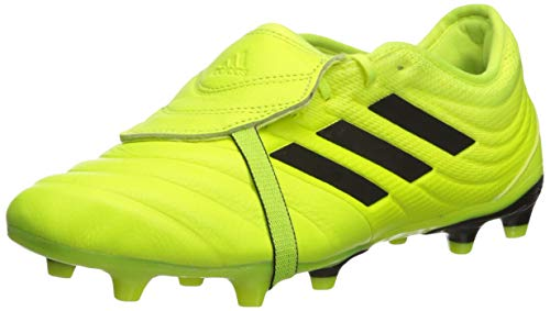 adidas Men's Copa Gloro 19.2 Firm Ground Soccer Shoe, Black/Solar Yellow, 8.5 M US