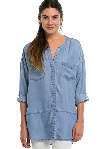 (Ellos Women's Plus Size Patch Pocket Tencel Tunic - Bleach, 12)