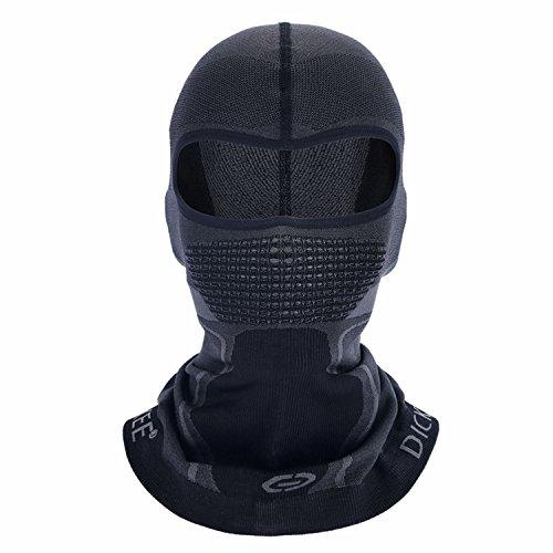 DICKEE Balaclava Motorcycle Helmet Liner Riding Headwear Face Mask Warmer, Dk-r-l