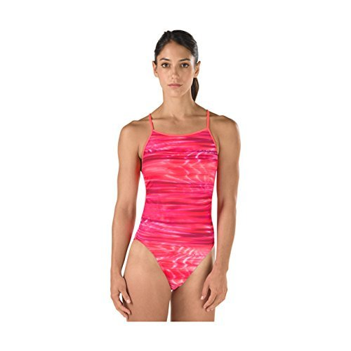 Speedo Flipturns Water - Speedo Turnz Printed Tie Back Pink Female Pink 36