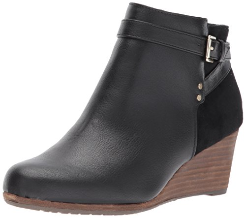 Dr. Scholl's Shoes Women's Double Ankle Boot, Black, 8 M US (Ladies Heel Boots)