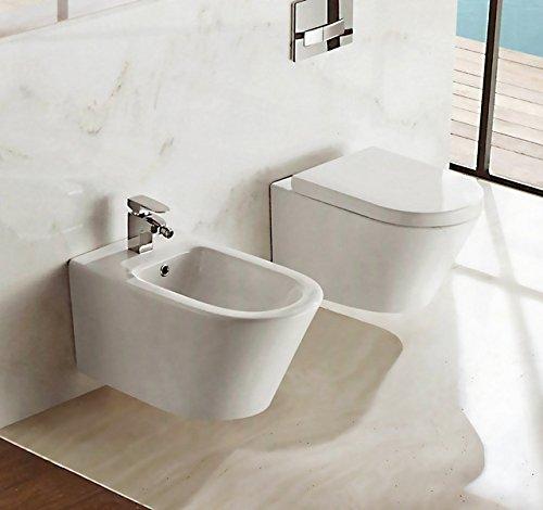 Sanitari Vaso WC e Bidet sospeso moderno ceramica Bagno Italia ...