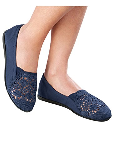 Carol Wright Regali Crochet Slip-on Navy
