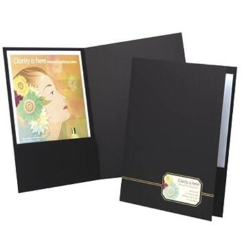 oxford monogram executive twin pocket folder blackgold letter size 4 per