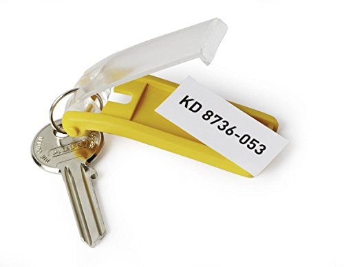 DURABLE Key Tags, Plastic, Red, 6-Pack (195703) Photo #4