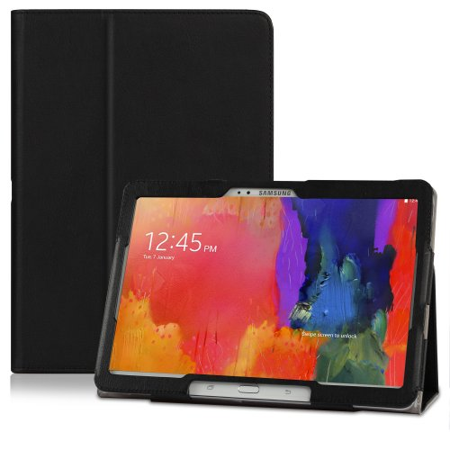 """CaseCrown Bold Standby Pro Case (Black) for Samsung Galaxy Tab Pro 10.1"""" with Sleep / Wake, Hand Strap, and Multi-Angle Viewing Stand"""