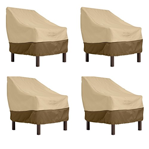 Classic Accessories Veranda Standard Dining Patio Chair Cover (4-Pack)