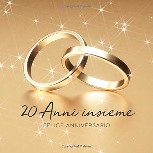 Anniversario Matrimonio Venti Anni.20 Anni Insieme Libro Degli Ospiti Per Aniiversario Di Matrimonio