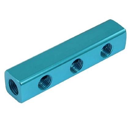 Multifuncional 3 en 3 de cada línea aérea colector Splitter Bloque Azul