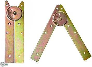 Escalera de la cinta de la escalera de bisagra escalera plegable de la cinta de la escalera de bisagras bisagra de colour amarillo galvanizado: Amazon.es: Bricolaje y herramientas