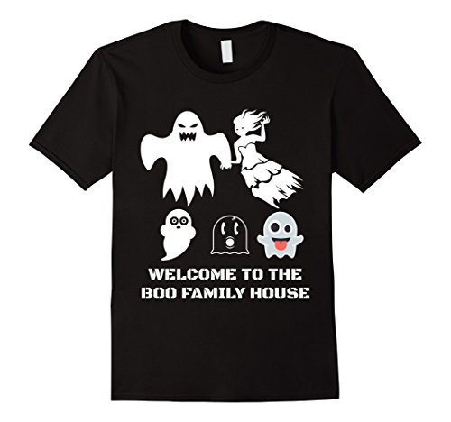 Mens Family Couples Scary Halloween costumes BOO ghost T shirt 2XL Black (Weird Couples Costumes Halloween)
