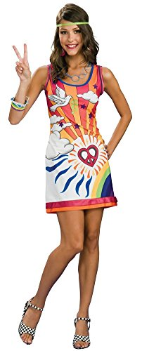 Rubie's Women's Sunshine Daydreamer Costume, As Shown, (Ladies Hippy Fancy Dress)