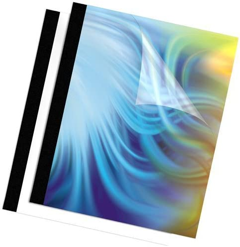 Black 90 sheets 3//8 Inch by Fellowes Fellowes Binding Thermal Presentation Covers 5256101
