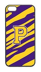 Caroline's Treasures CJ1022-P-IP5 Tiger Stripe - Purple Gold Letter P Monogram Initial Cell Phone Cover IPHONE 5, IP5, multicolor