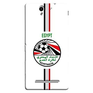 ColorKing Sony Xperia C3 Football White Case shell cover - Fifa Egypt 01